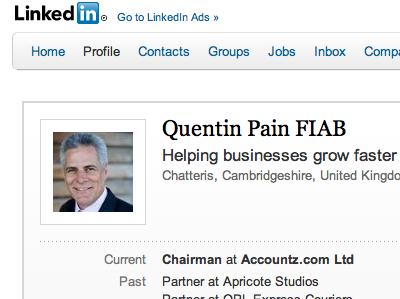 LinkedIn network screenshot