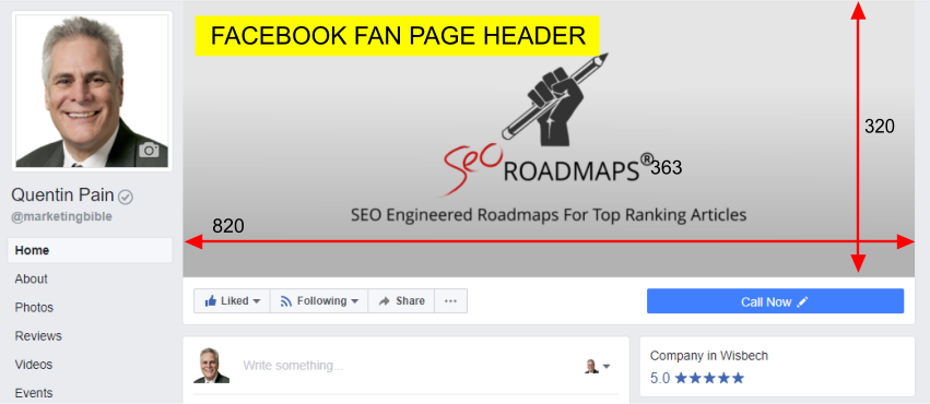 Facebook Fan Page Header Image Size