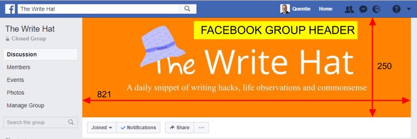 Facebook Group Header Image Size