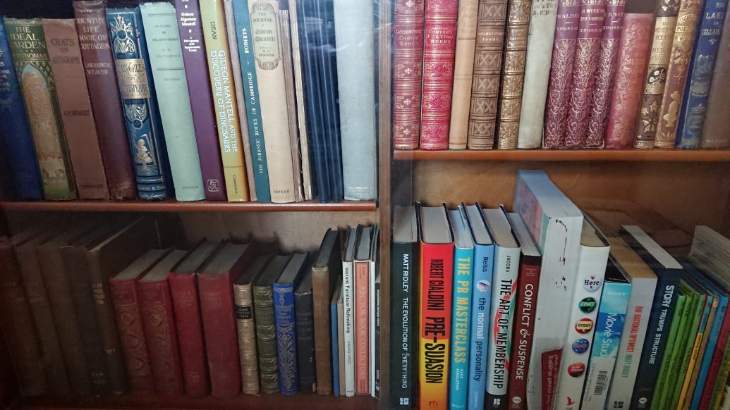 Photo of some of Quentin Pain's books